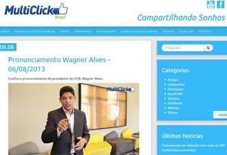 Wagner Alves, presidente da Multiclick, em vídeo na página da empresa (Foto: Reprodução)