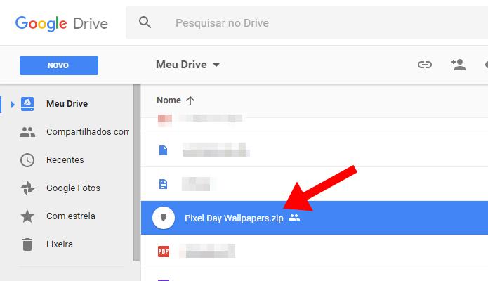Abra um arquivo compactado no Google Drive (Foto: Reprodução/Paulo Alves)