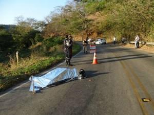 Acidente fatal na MG-265 (Foto: Silvan Alves/Arquivo Pessoal)