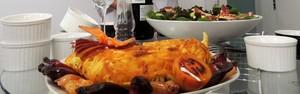 Confira receita de 'leão-baio', com pinhão e carne de ovelha (Géssica Valentini/G1)