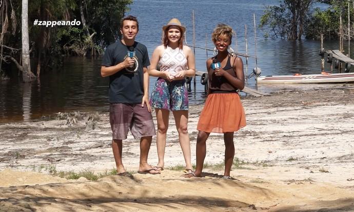 Equipe do 'Zappeando' visita interior do Amazonas (Foto: Rede Amazônica)