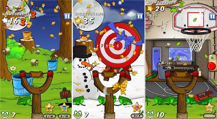 FrogSling 2 é um game divertido de tiro ao alvo para Windows Phone (Foto: Divulgação/Windows Phone Store)