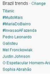 Trending Topics no Brasil às 17h30 (Foto: Reprodução)