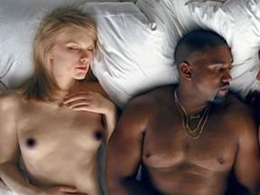 Taylor Swift e Kanye West são retratados em clipe (Foto: Reprodução)