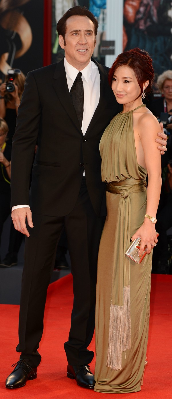 Nicolas Cage e sua esposa, Alice Kim (Foto: Getty Images)