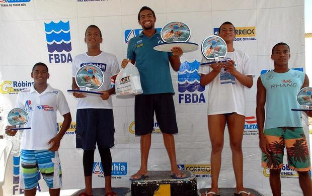 Allan do Carmo e Renan Santos no pódio (Foto: Divulgação/FBDA)
