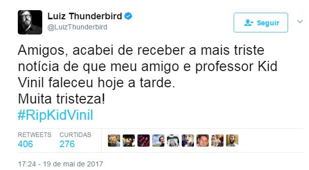 Post de Thunderbird no Twitter (Foto: Reprodução)