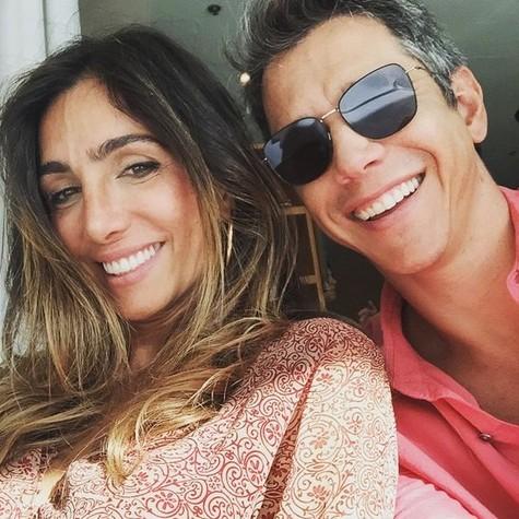 Andrea Santa Rosa e Márcio Garcia (Foto: Reprodução/ Márcio Rodrigues)