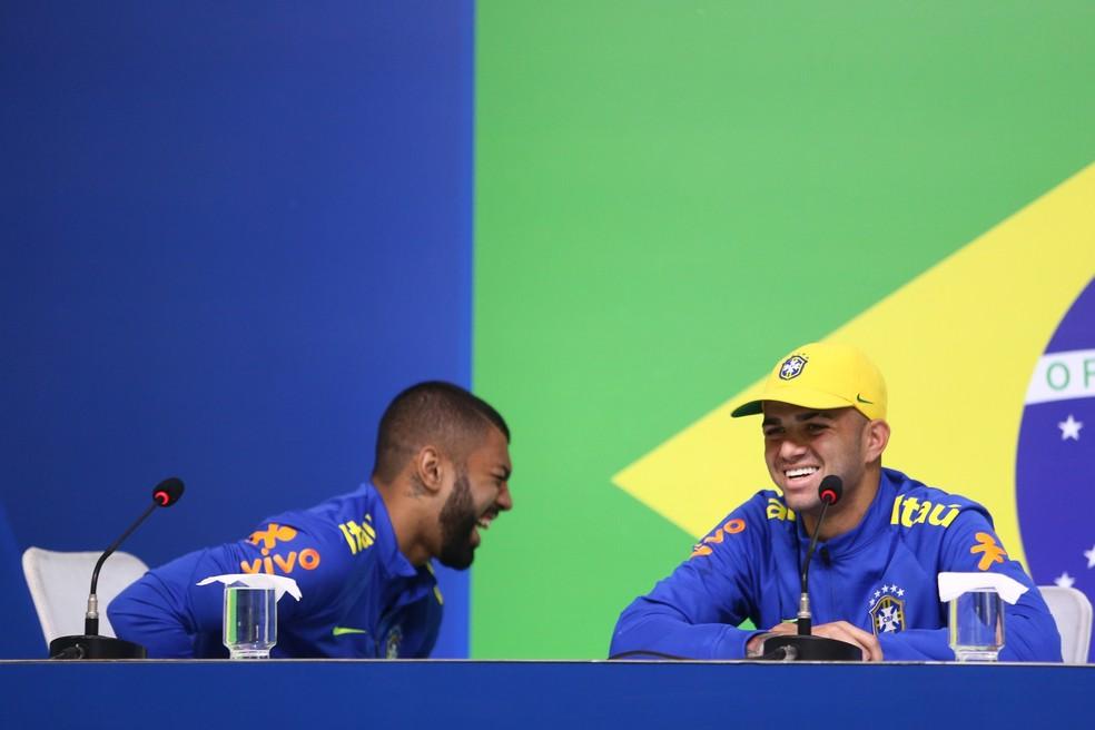 Gabigol e Luan participaram do inédito ouro olímpico da Seleção  (Foto: Mowa Press)