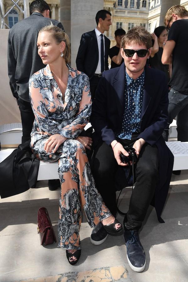 A modelo Kate Moss e seu namorado, o conde Nikolai Von Bismarck (Foto: Getty Images)