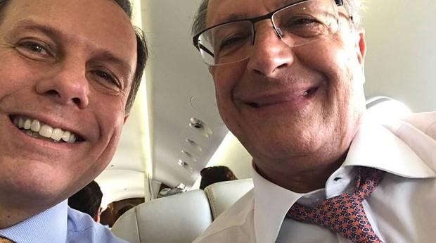Doria, Alckmin, selfie (Foto: João Doria)