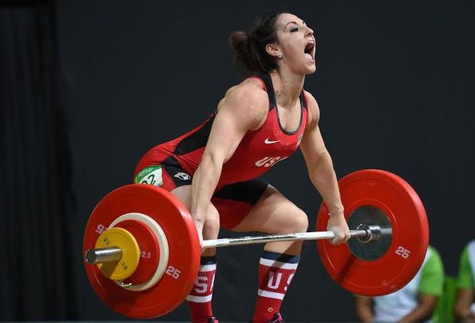 Vanessa Gayle evento-teste Rio 2016 levantamento de peso (Foto: André Durão)