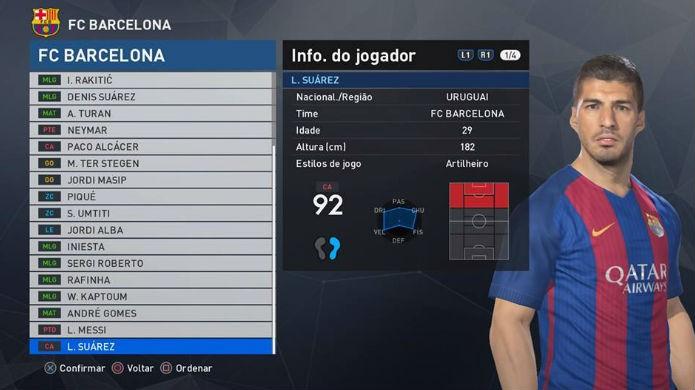 Suárez é o melhor atacante de PES 2017 (Foto:Reprodução/Thomas Schulze)