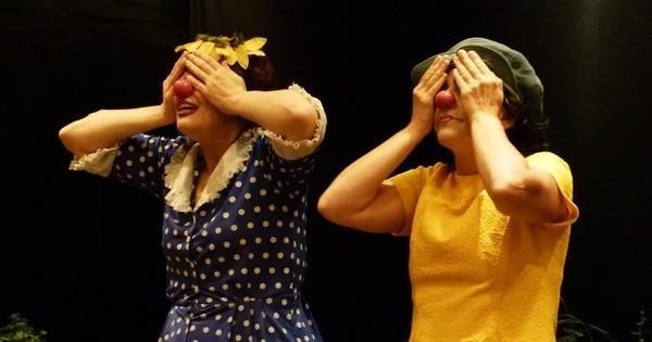 Palhaças exploram linguagem dos clowns (Foto: Divulgação/ Julia Parpulov)