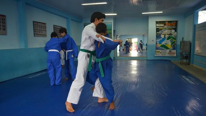 Judoca Pedro Henrique de 11 anos (Foto: Samira Lima)