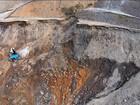 Comissão vistoria obra em barragem de Mariana que está com rachadura
