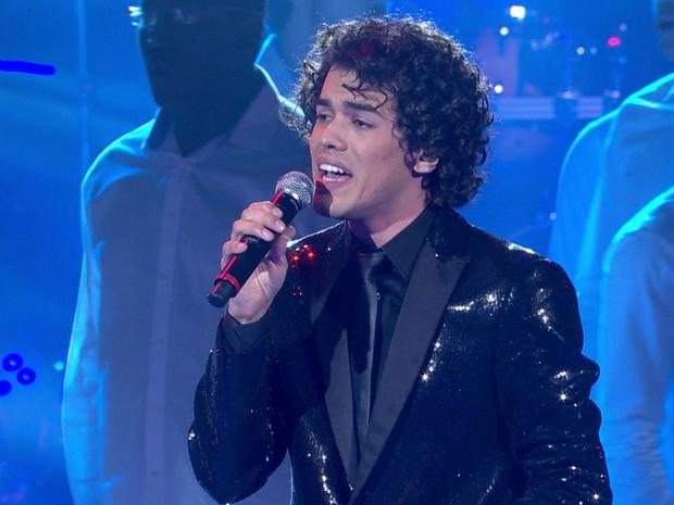 Sam Alves durante a final do The Voice Brasil (Foto: Reprodução/TV Globo)