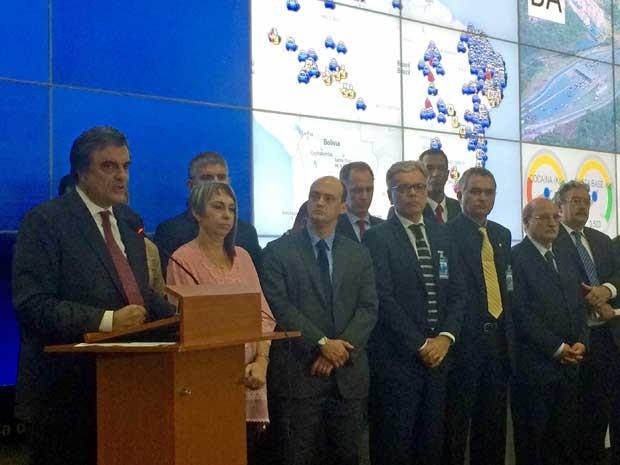 Ministro José Eduardo Cardozo participa de reunião com secretários estaduais de segurança (Foto: Henrique Arcoverde / G1)