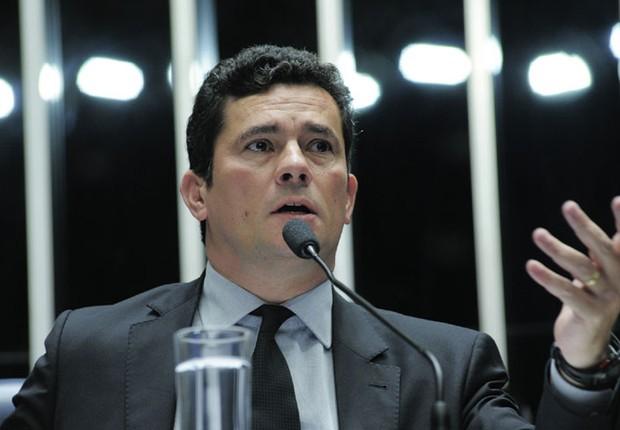 O juiz federal Sérgio Moro , da Lava Jato, participa de sessão de debate sobre projeto de abuso de autoridade no Senado (Foto: Geraldo Magela/Agência Senado)