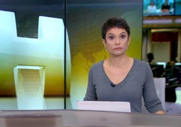 Sandra Annenberg no 'Jornal Hoje' (Foto: Reprodução)