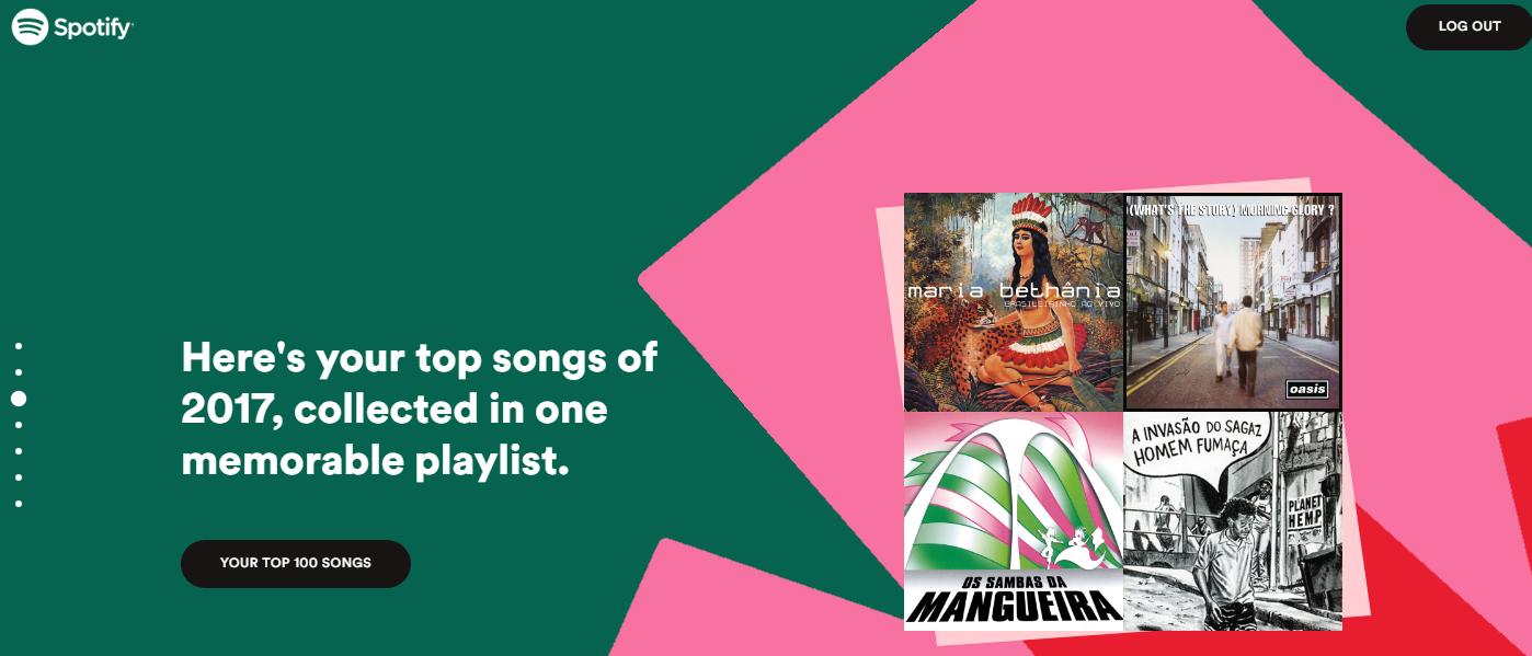 Playlist com as músicas mais escutadas no ano (Foto: Reprodução)