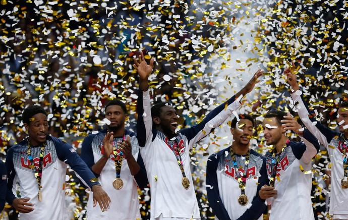 eua campeão mundial basquete (Foto: AP)