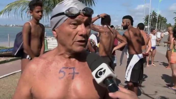 Maratona aquática al (Foto: Reprodução/TV Gazeta)