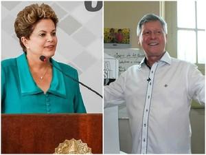 Dilma Rousseff (PT) e Artur Neto (PSDB) vão participar de evento em Brasília nesta semana (Foto: G1 AM)