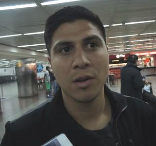 Jonathan Cristaldo, Palmeiras, desembarque (Foto: Marcelo Braga)