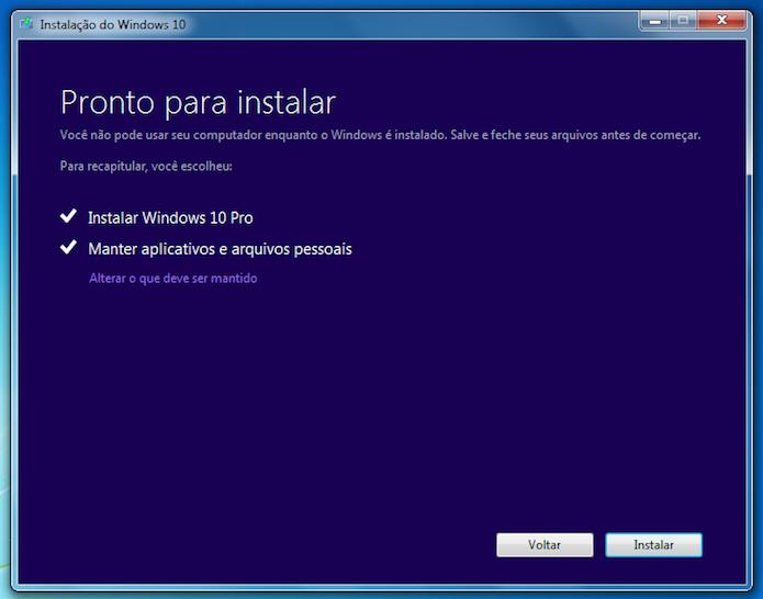 Configurando instalação do Windows 10 (Foto: Reprodução/Helito Bijora)