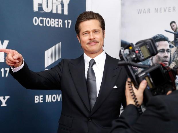 Brad Pitt em première de filme em Washington, nos Estados Unidos (Foto: Jonathan Ernst/ Reuters)