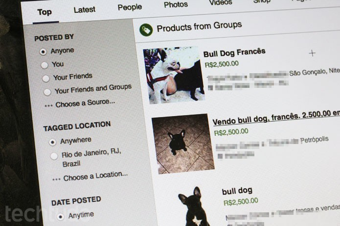 Venda de animais é comum no Facebook, embora os termos de uso digam o contrário (Foto: Melissa Cruz / TechTudo)