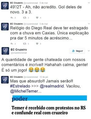 Cruzeiro-RS redes sociais Gauchão (Foto: Reprodução / Twitter)
