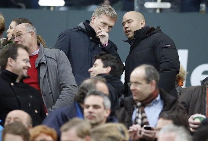 David Moyes em jogo do Bayern Manchester United (Foto: Agência AP)