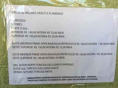 Ingressos, Vasco, Flamengo, Arena Pantanal (Foto: Ivan Raupp)