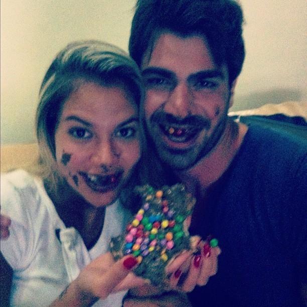 Ex-BBBs Adriana e Rodrigão (Foto: Twitter/ Reprodução)