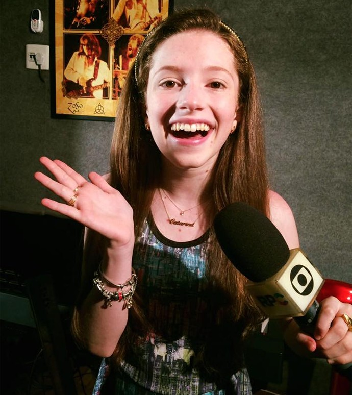 Catarina Estralioto The Voice Kids (Foto: Arquivo pessoal)