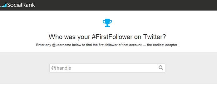 First Follower diz quem foi seu primeiro seguidor no Twitter (Foto: Reprodução/SocialRank)