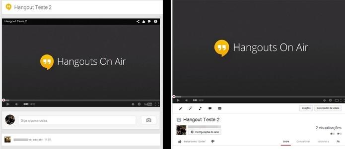 É possível visualizar o Hangout publicamente tanto nos eventos de seu perfil no Google+ quanto eu seu canal no YouTube (Foto: Reprodução/Paulo Finotti)