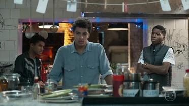 Anderson, Fio e Tato conversam sobre o encontro de Keyla