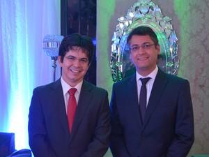 Senador Randolfe Rodrigues e prefeito de Macapá Clécio Luís (Foto: Rodrigo Sales/G1)
