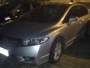 Carro encontrado com suspeito em Natal estava com placa adulterada (Foto: Divulgação/Polícia Militar)