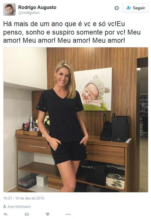 Rodrigo Augusto de Pádua tinha perfil dedicado a Ana Hickmann (Foto: Instagram / Reprodução)