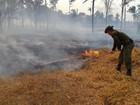 Polícia ambiental ajuda no combate às queimadas no interior de Roraima