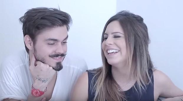 Rubia Baricelli e namorado (Foto: Reprodução / Youtube)