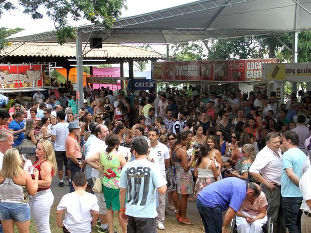 Em Vinhedo (SP), a Festa da Uva e do Vinho recebe turistas de 20 estados do país (Foto: Karina Folegatti)