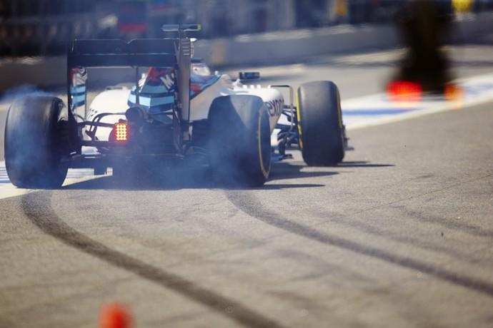 Felipe Massa não saiu dos boxes a tempo para abrir mais uma volta - GP da Espanha (Foto: EFE)