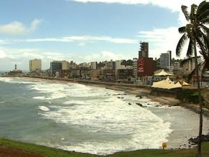 Vista do Farol nesta terça-feira (23) (Foto: Imagens/TV Bahia)