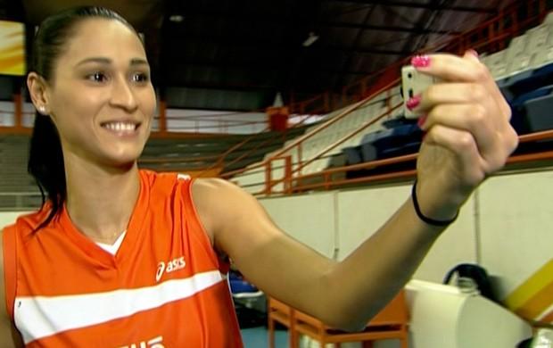 Jaqueline, ponteira do Osasco (Foto: Reprodução SporTV)