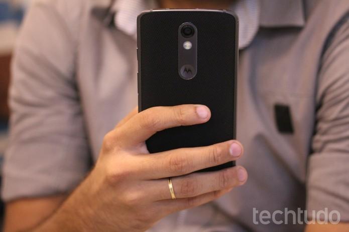 Câmeras do Moto X Force têm maior resolução do que no iPhone 6 (Foto: Luana Marfim/TechTudo) (Foto: Câmeras do Moto X Force têm maior resolução do que no iPhone 6 (Foto: Luana Marfim/TechTudo))